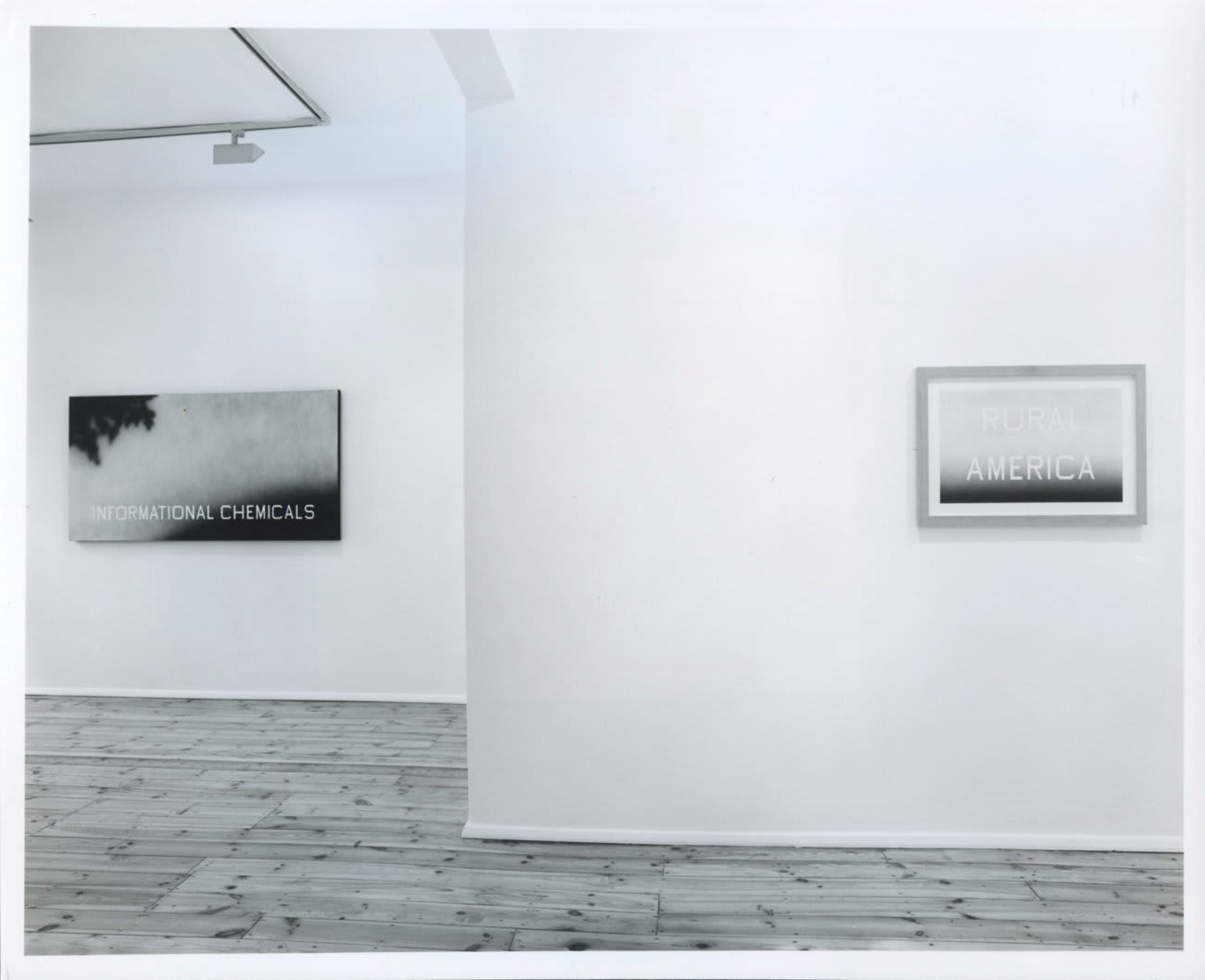 Installation view, Karsten Schubert, 1990