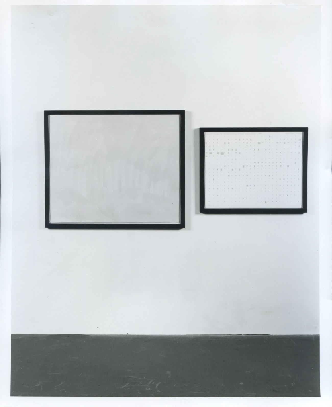 Stephen Prina: 'Exquisite Corpse: The Complete Paintings of Manet' and Recent Work, installation view, October 1989