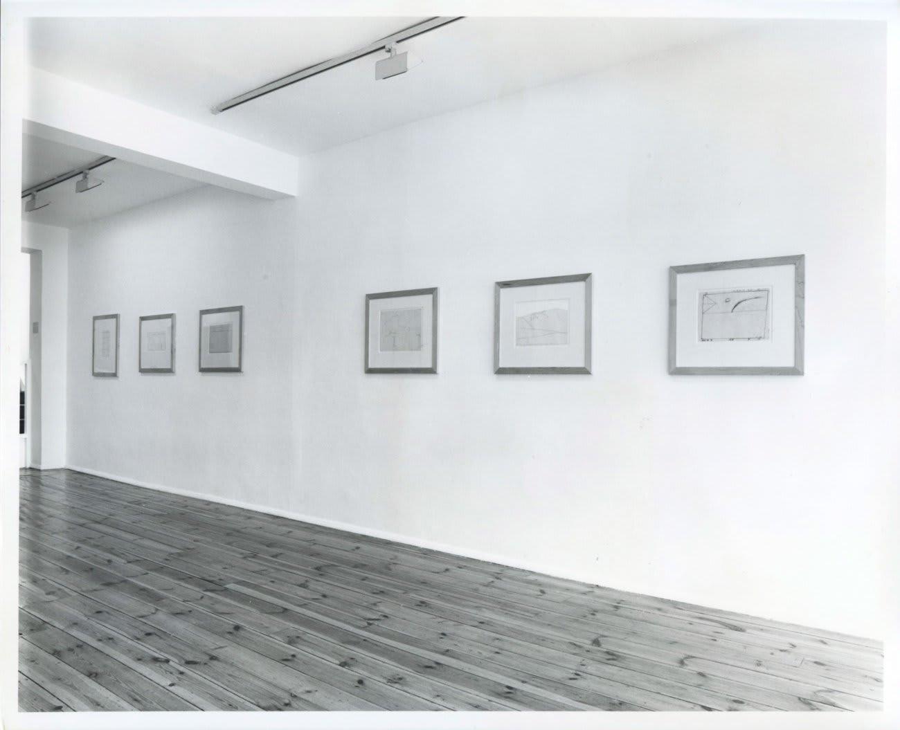 Bob Law: Drawings 1959–66, installation view, April 1989