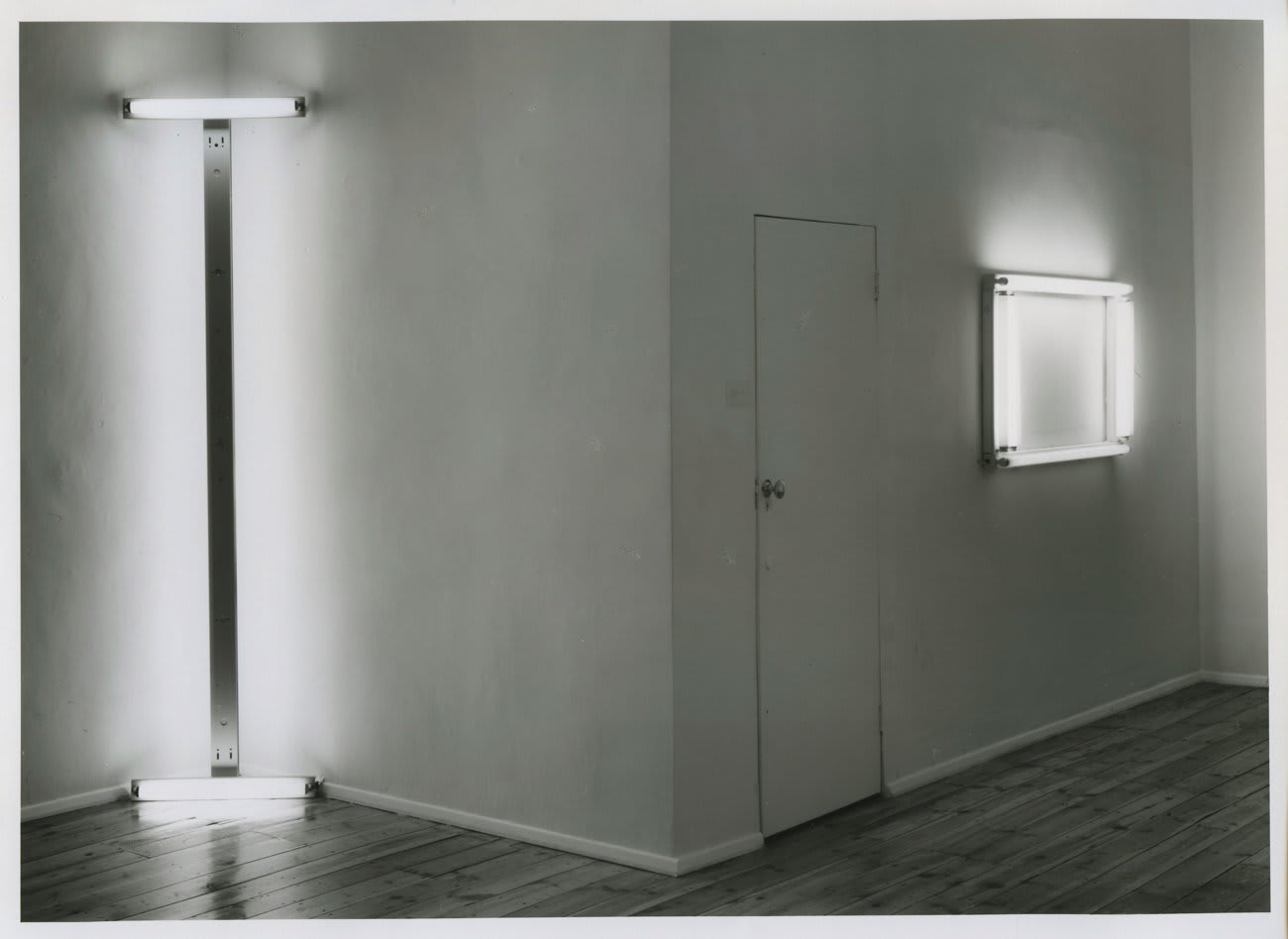 Dan Flavin: Early Works, installation view, May 1988