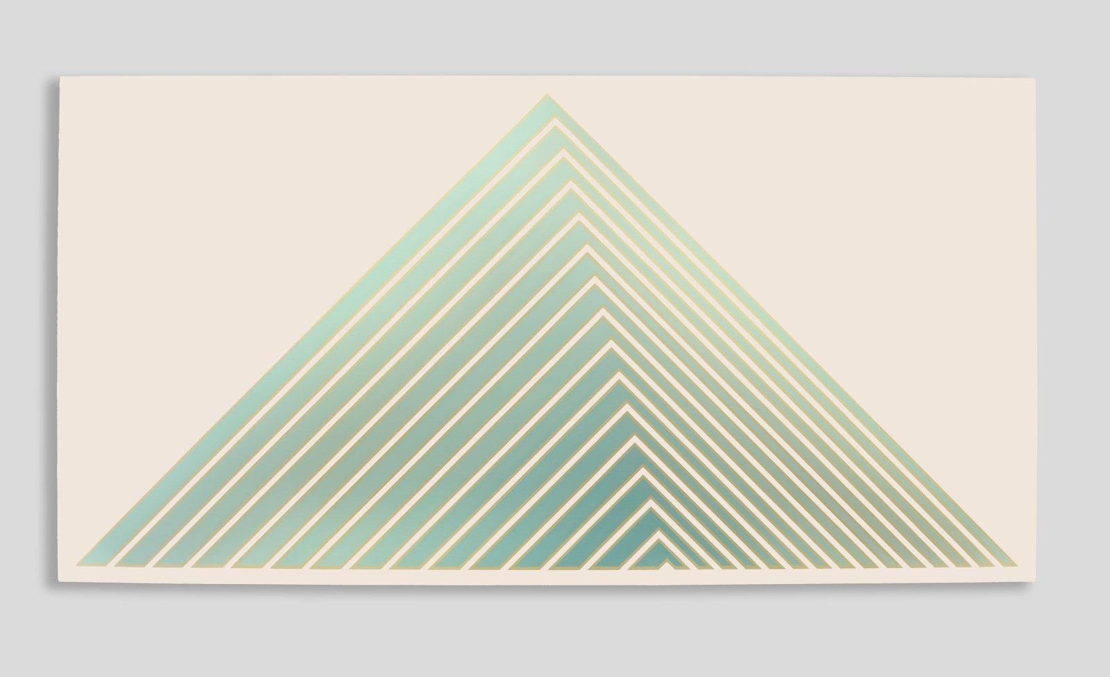 Tess Jaray, Green Pyramid, 1987