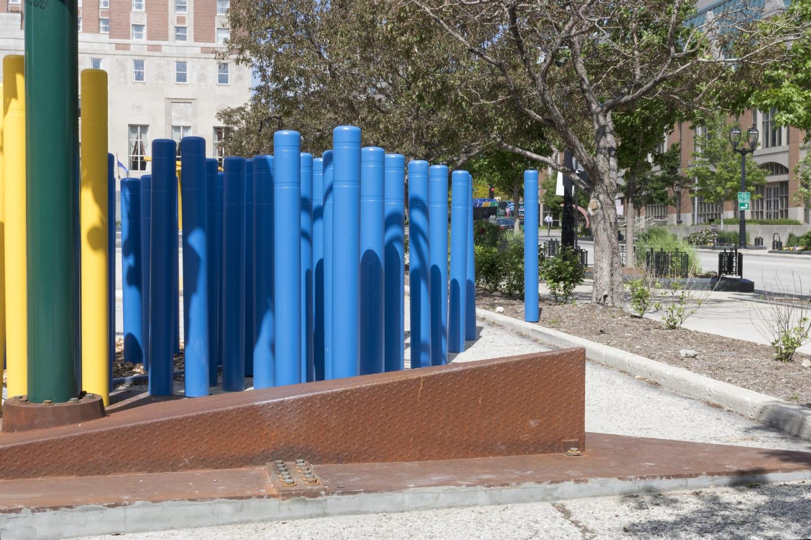 Jessica Stockholder and Tony Tasset, Sculpture Milwaukee