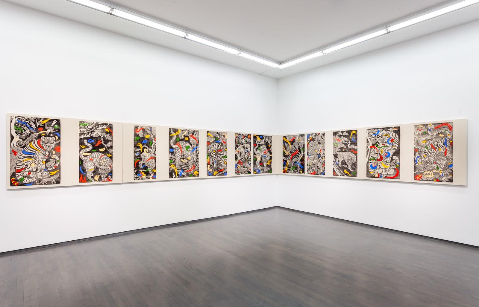 Kour Pour, Familiar Spirits, 2021, (Installation View), Kavi Gupta | 835 W. Washington Blvd.