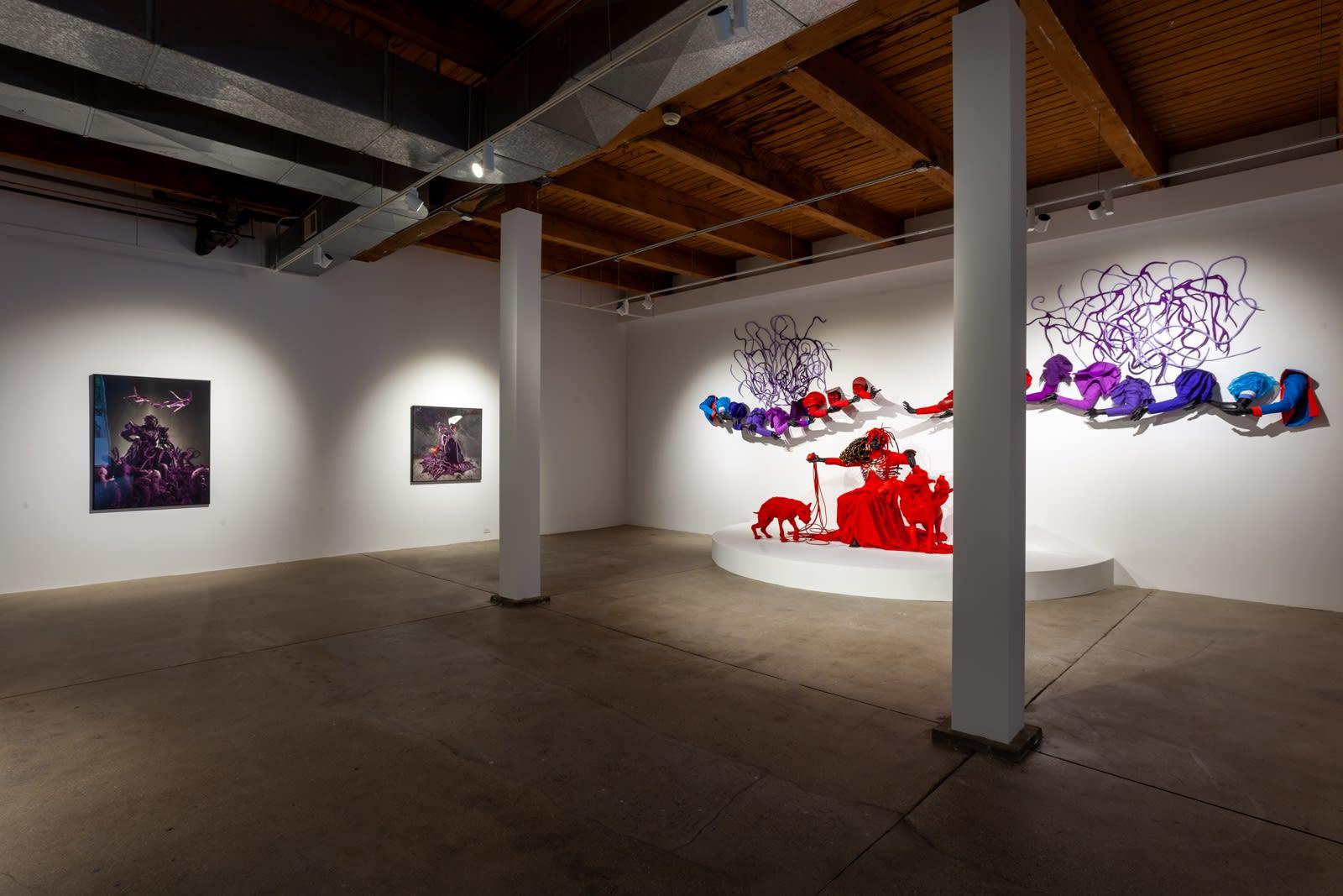Installation view of Mary Sibande: Unhand Me, Demon!, Kavi Gupta   Washington Blvd., Chicago, 2021