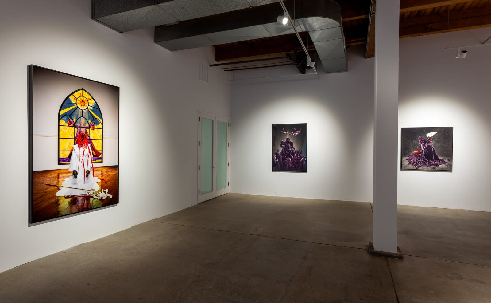 Installation view of Mary Sibande: Unhand Me, Demon!, Kavi Gupta | Washington Blvd., Chicago, 2021