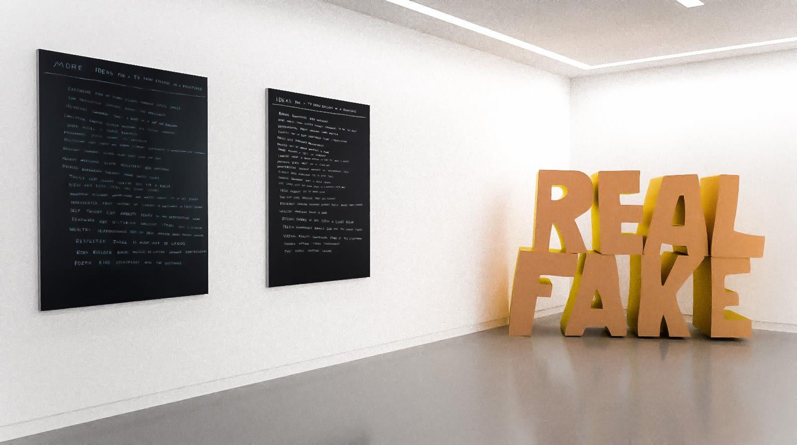 Works by Scott Reeder in The Written Word (virtual exhibition view), 2020, Kavi Gupta
