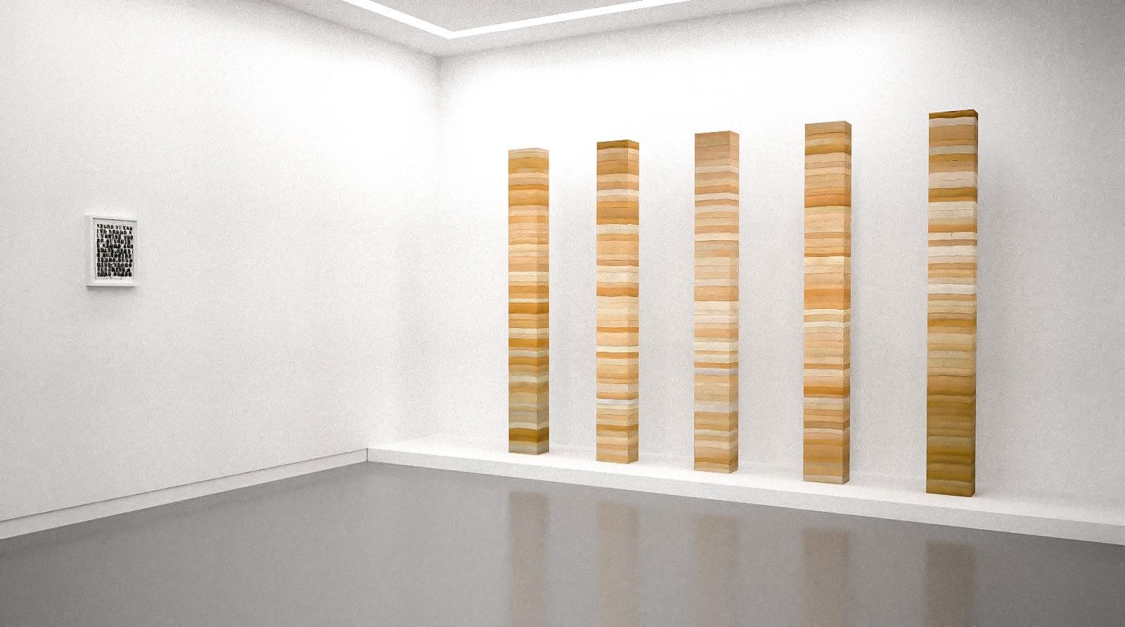 Works by Glenn Ligon and Manish Nai in The Written Word (virtual exhibition view), 2020, Kavi Gupta
