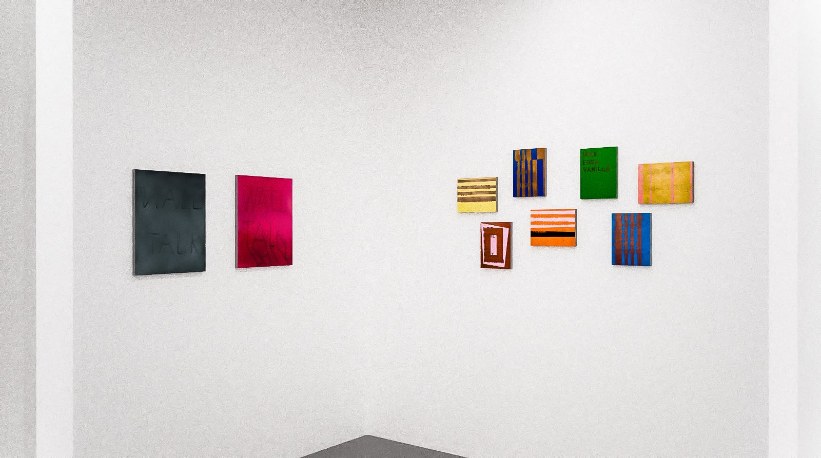 Works by Scott Reeder and Patrick Chamberlain in The Written Word (virtual exhibition view), 2020, Kavi Gupta