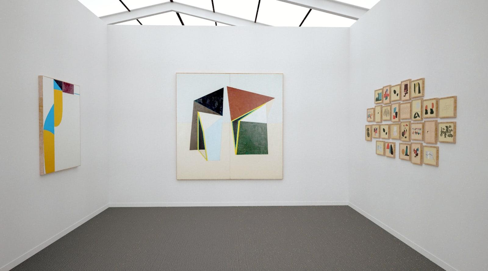 Works by Clare Rojas at Frieze Art Fair New York (Installation View), 2020, Kavi Gupta