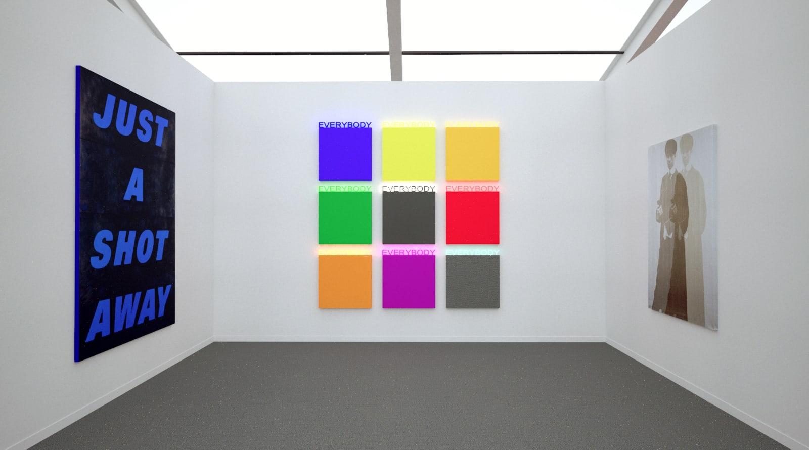 Works by Deborah Kass at Frieze Art Fair New York (Installation View), 2020, Kavi Gupta