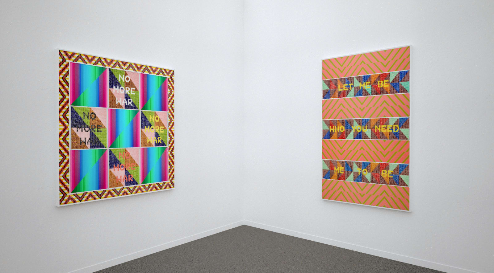 Works by Jeffrey Gibson at Frieze New York (Installation View), 2020, Kavi Gupta