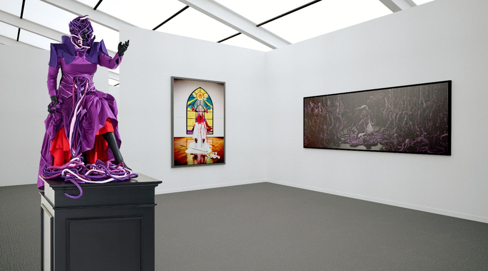 Works by Mary Sibande at Frieze New York (Installation View), 2020, Kavi Gupta