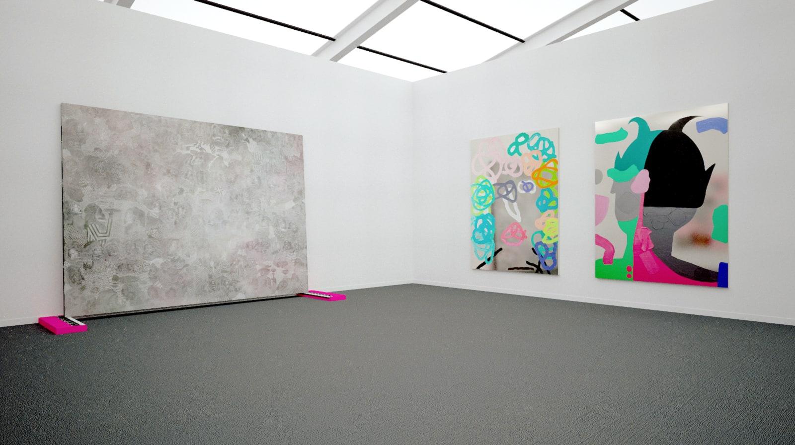 Works by José Lerma at Frieze New York (installtion view), 2020 Kavi gupta