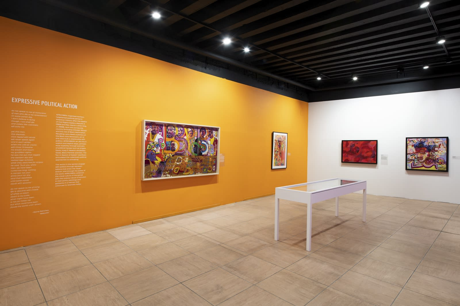 Installation view of AFRICOBRA: Nation Time, 2019 Venice Biennale.