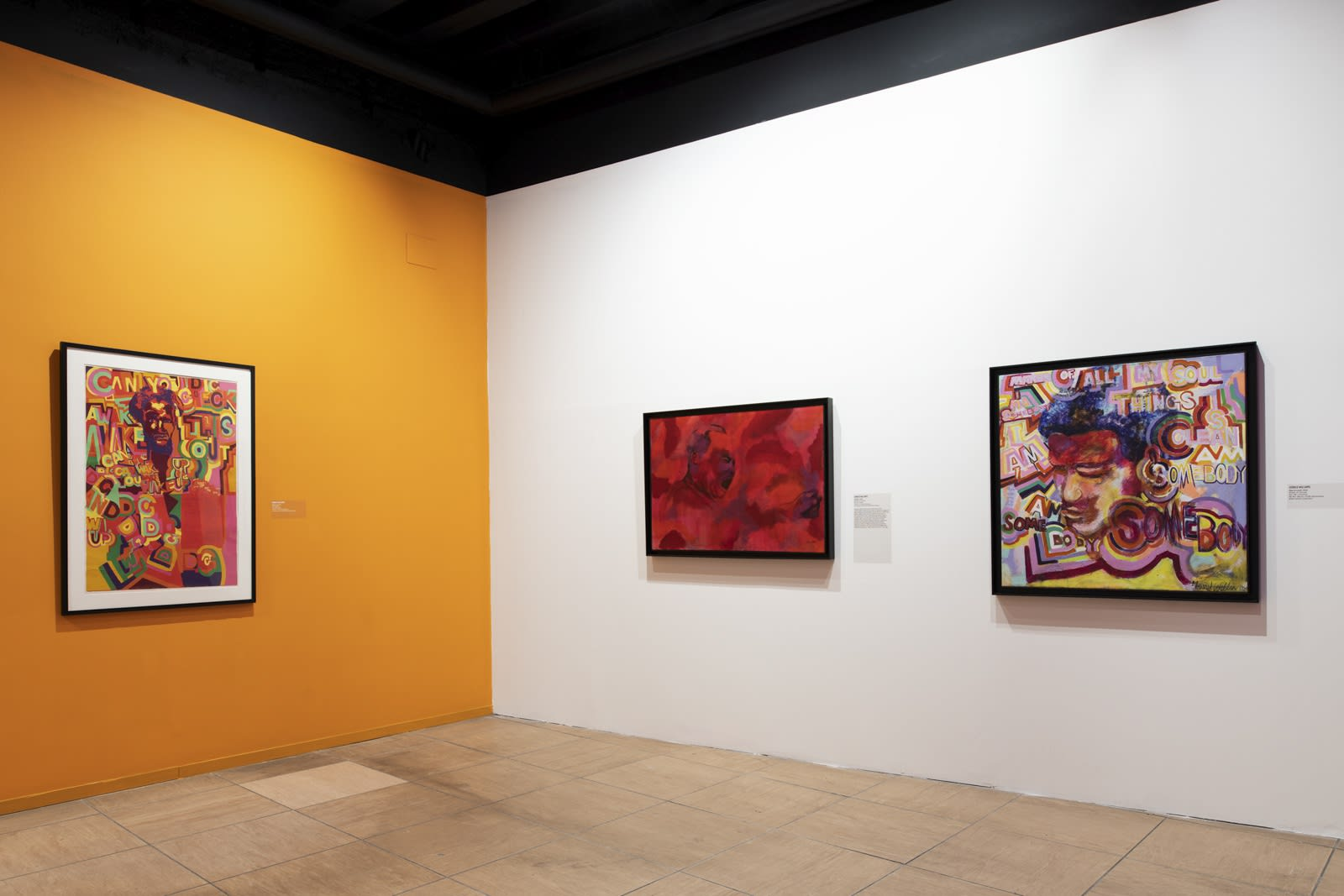 Installation view of AFRICOBRA: Nation Time, Venice Biennale 2019.