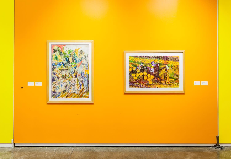 Works by Wadsworth Jarrell in Africobra 50, Kavi Gupta, 2018