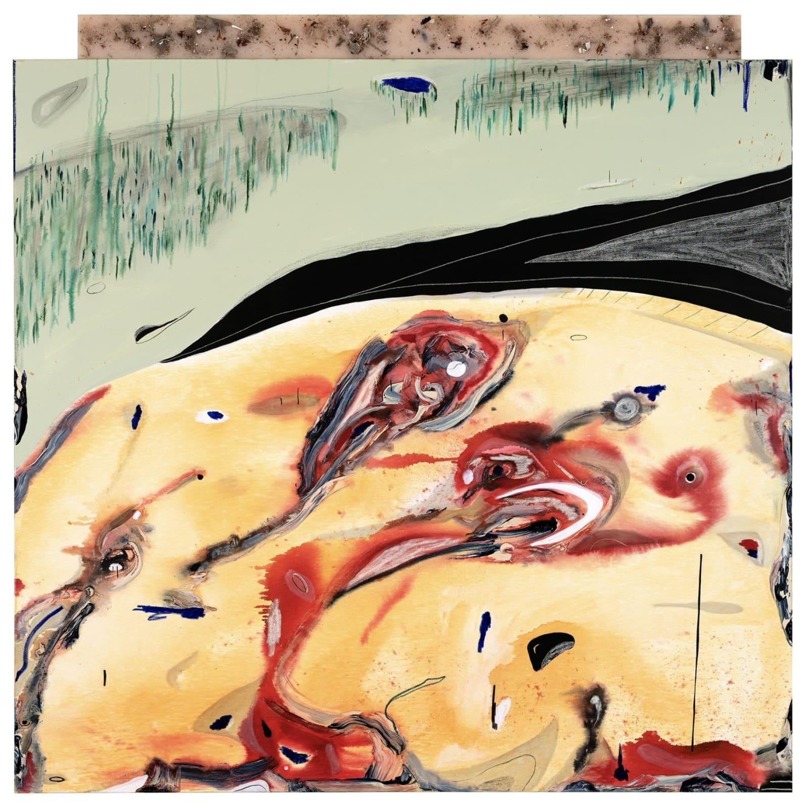 Imaginary Landscape, 2019, mixed media, 75 x 68 inches