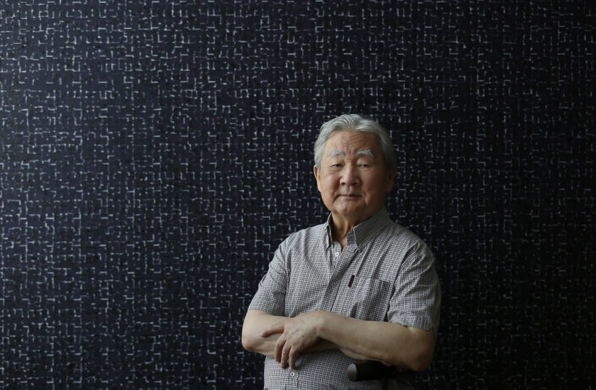 Young-il Ahn in his home in downtown Los Angeles. Photo by Francine Orr.