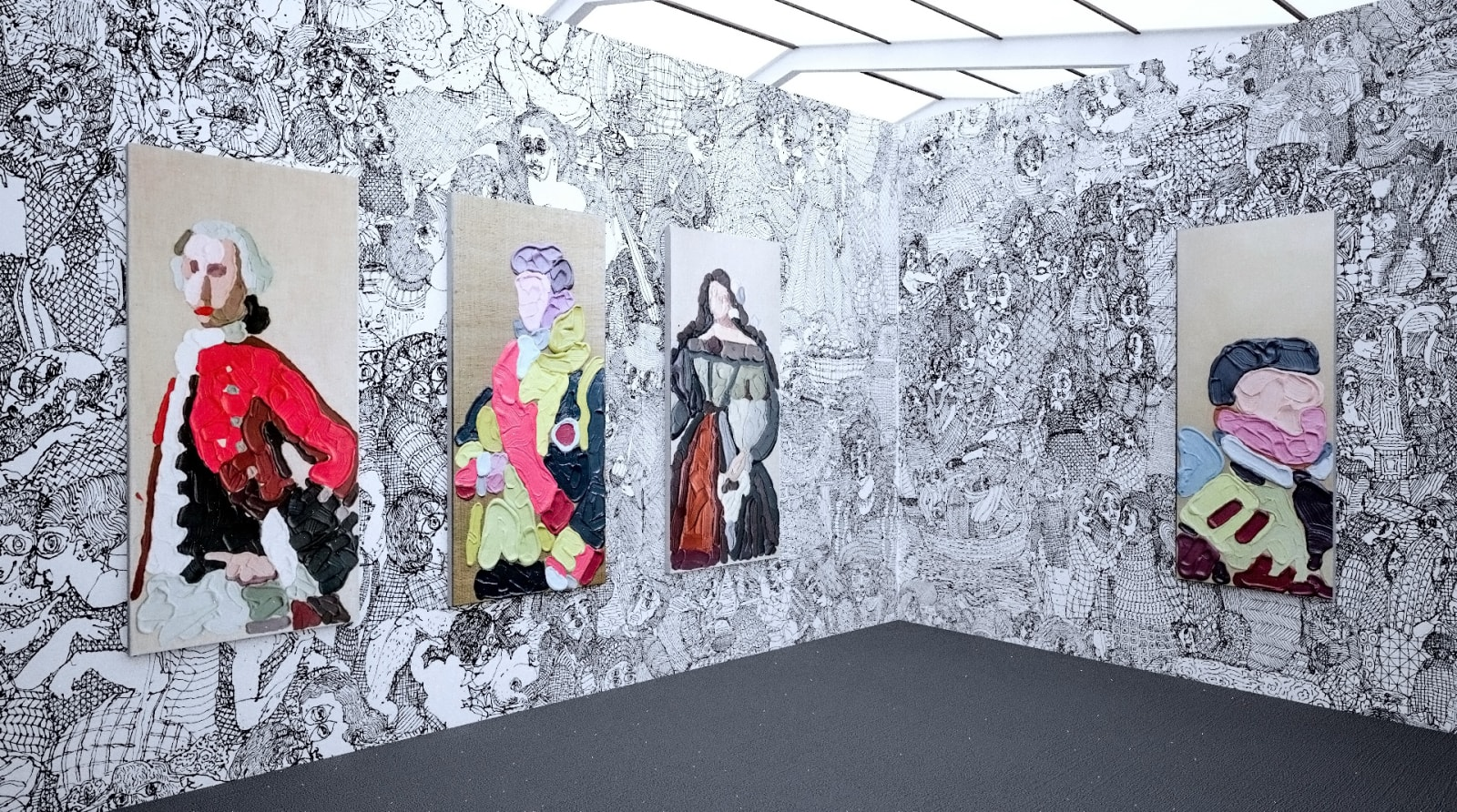 Works by José Lerma at Frieze New York (Installation View), 2020, Kavi Gupta
