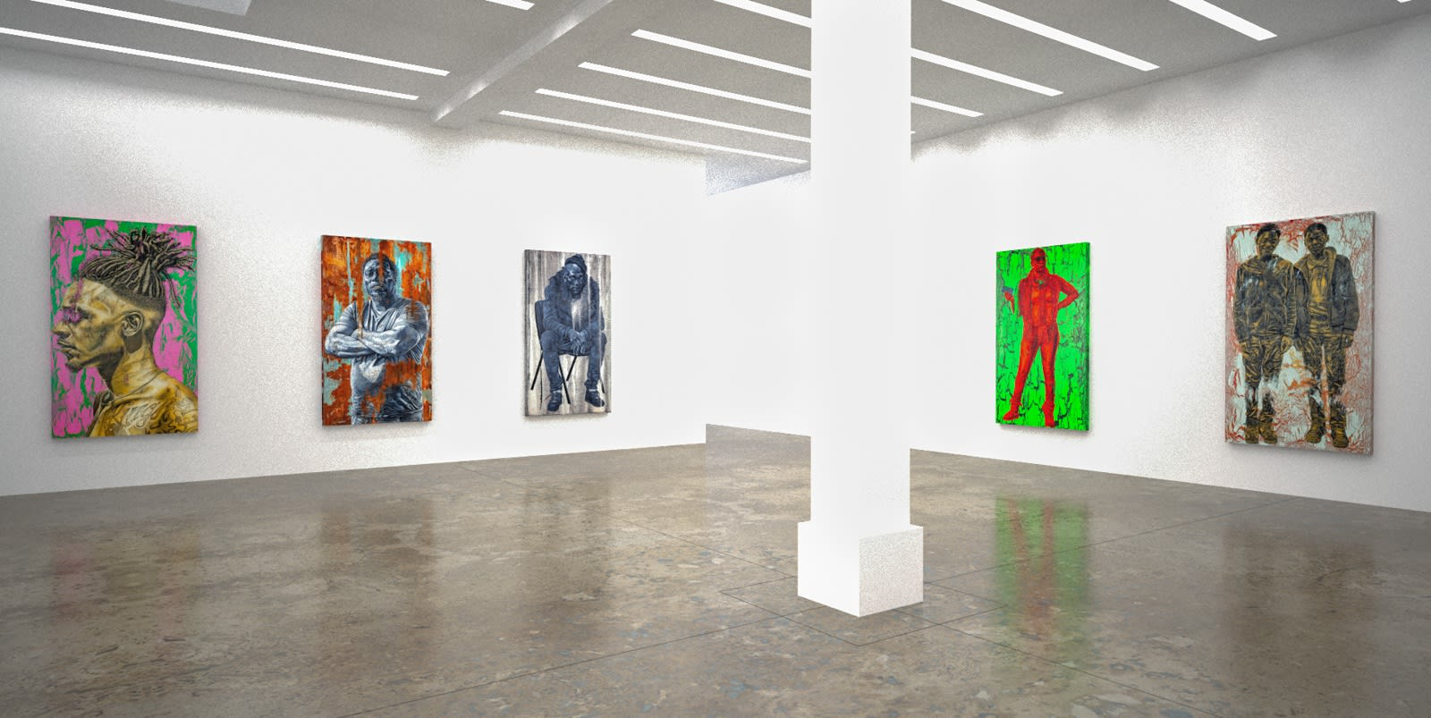 Alfred Conteh, Our Reality (virtual exhibition view), 2020