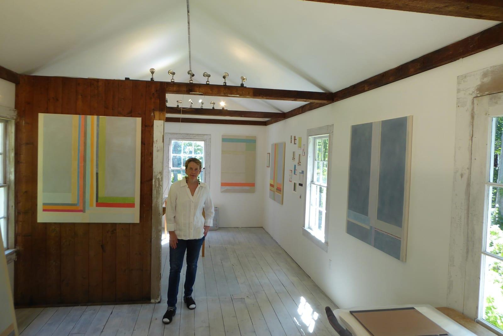 Elizabeth Gourlay in her studio, photo credit: Matthew Griffiths