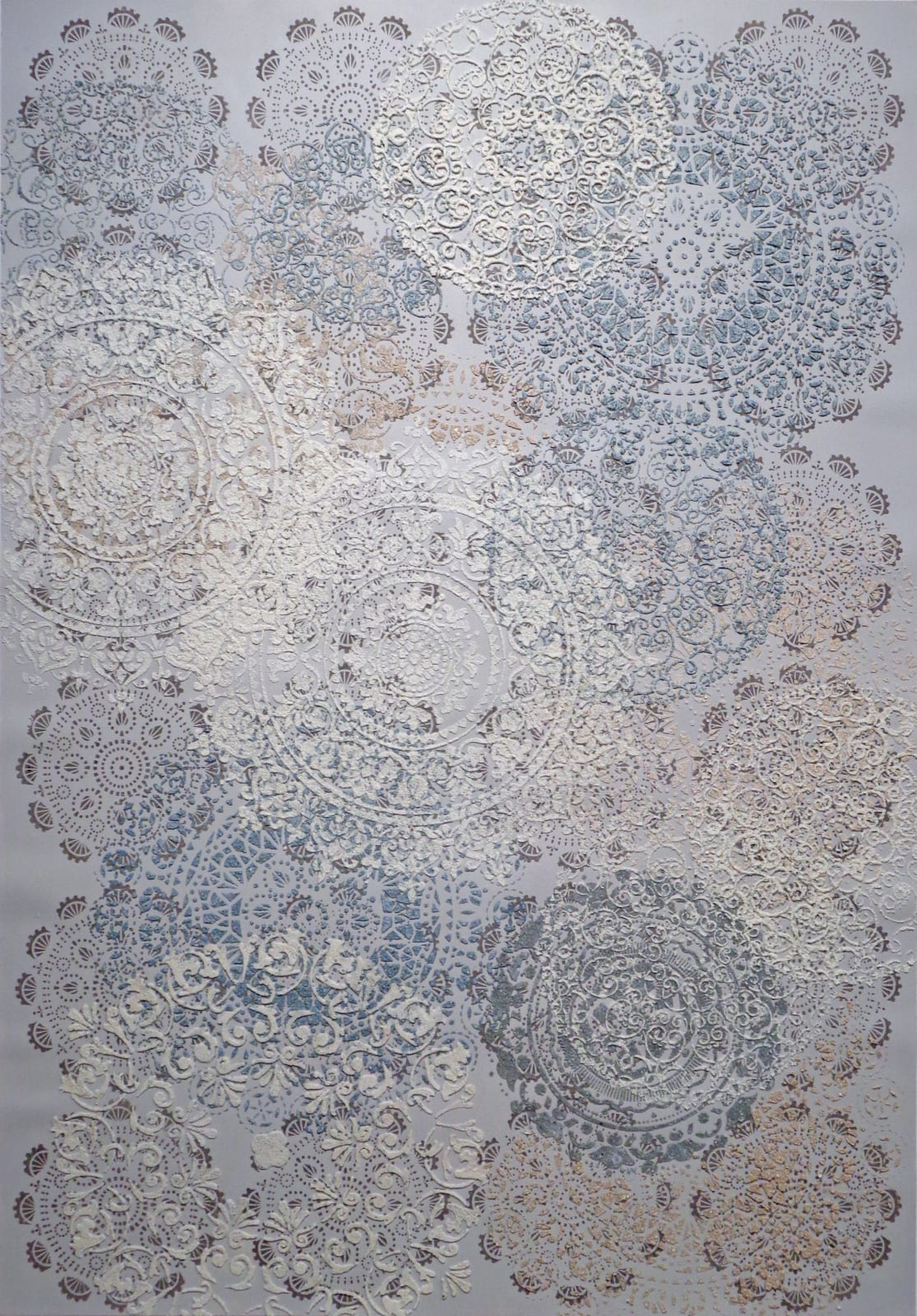 Eleanor White Mandala Abstraction, 2018