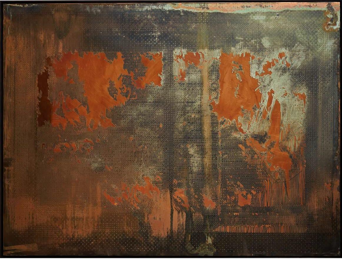 Caroline Jane Harris, Hard Copy (Virtual WIndow), 2019 Etched copper 93.5 x 124 cm