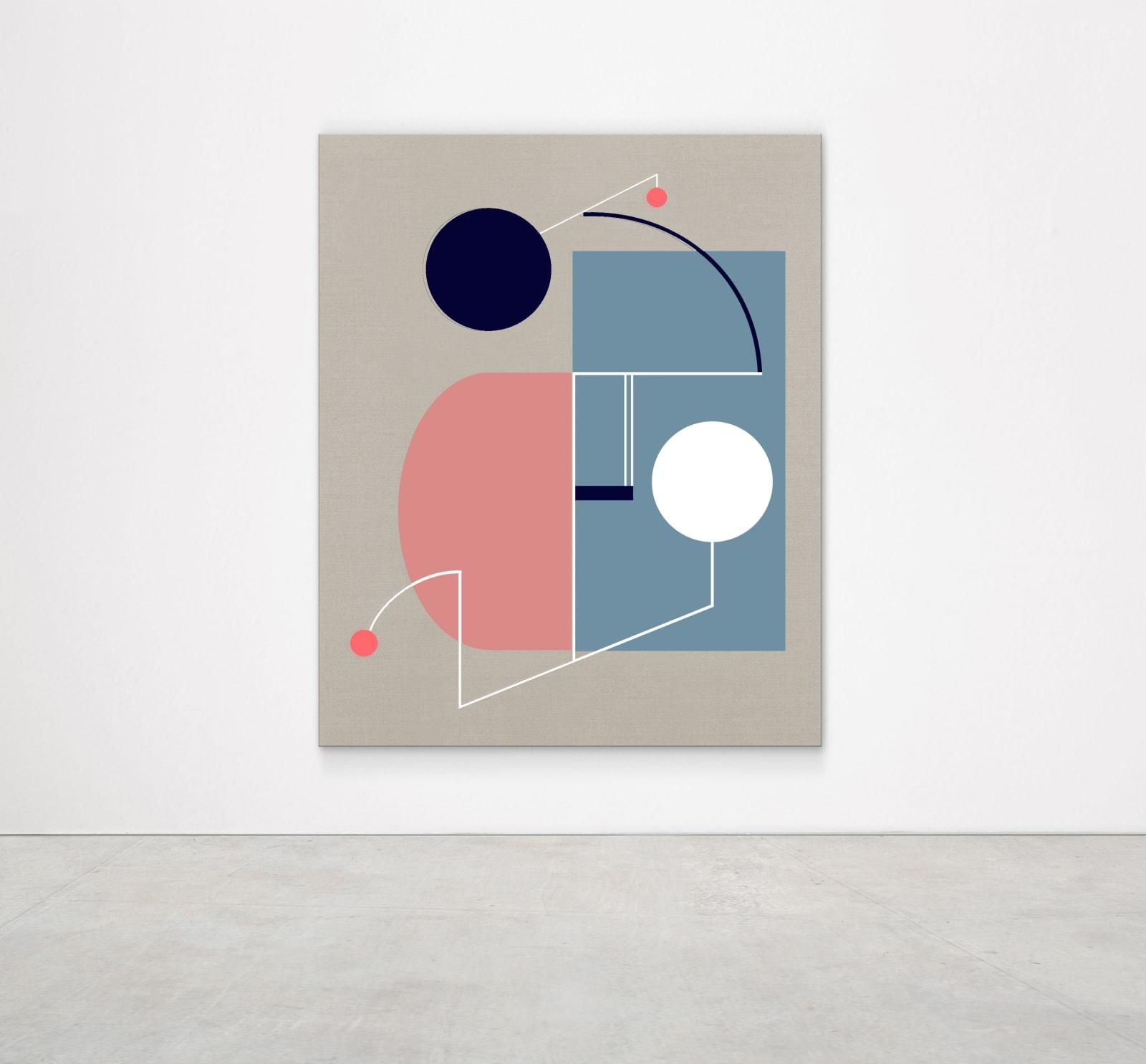 Sinta Tantra, A Dawn Kiss, 2019 Tempera on linen 160 x 130 cm