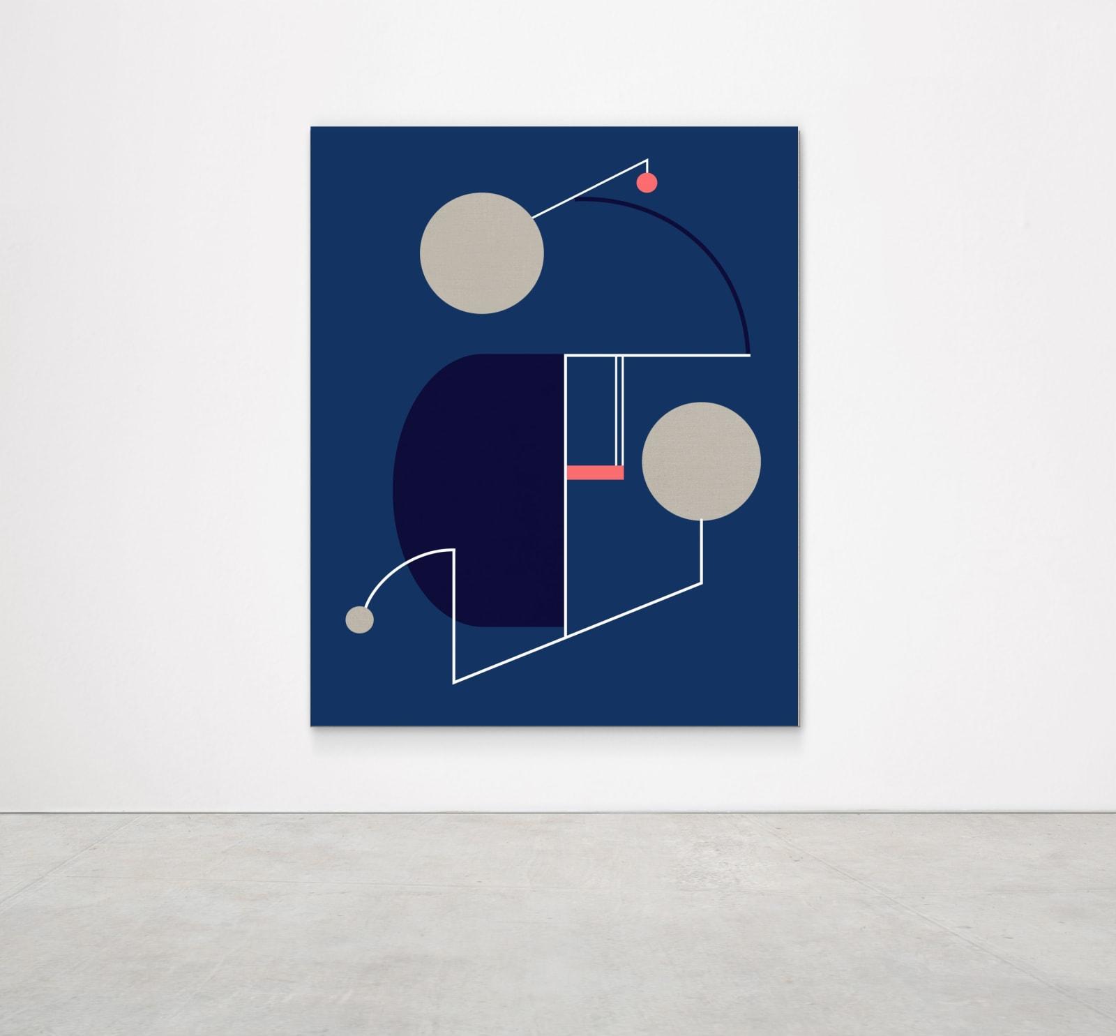 Sinta Tantra, A Dusk Kiss, 2019 Tempera on linen 160 x 130 cm