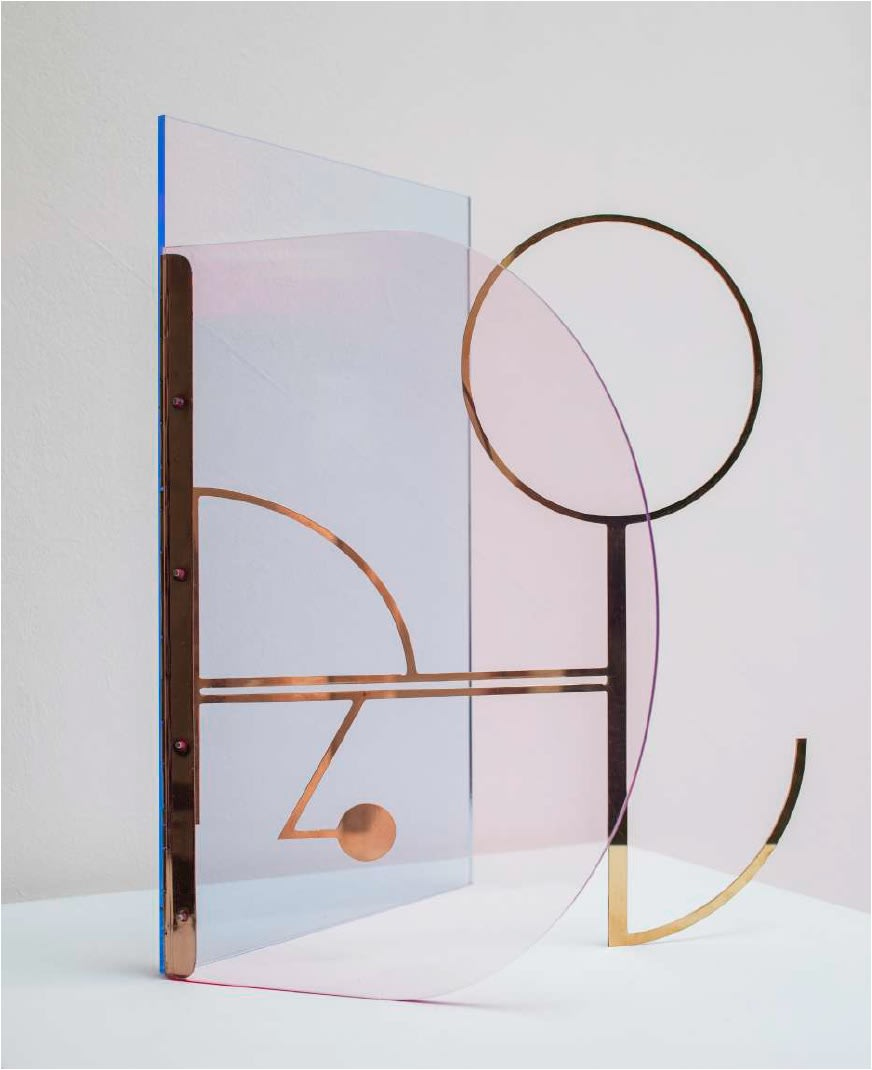 Sinta Tantra, Follow Constellations and Star Paths (Buckminster Fuller), 2019 Acrylic and brass 140 x 110 x 110