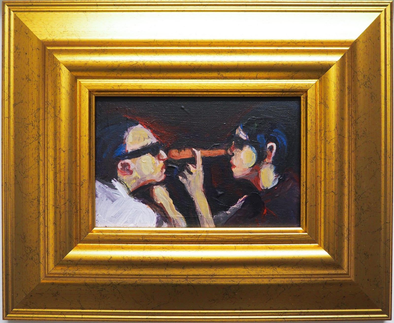 Yassine Balbzioui, orange lie, 2018 Oil on canvas 33.3 x 27.3 cm