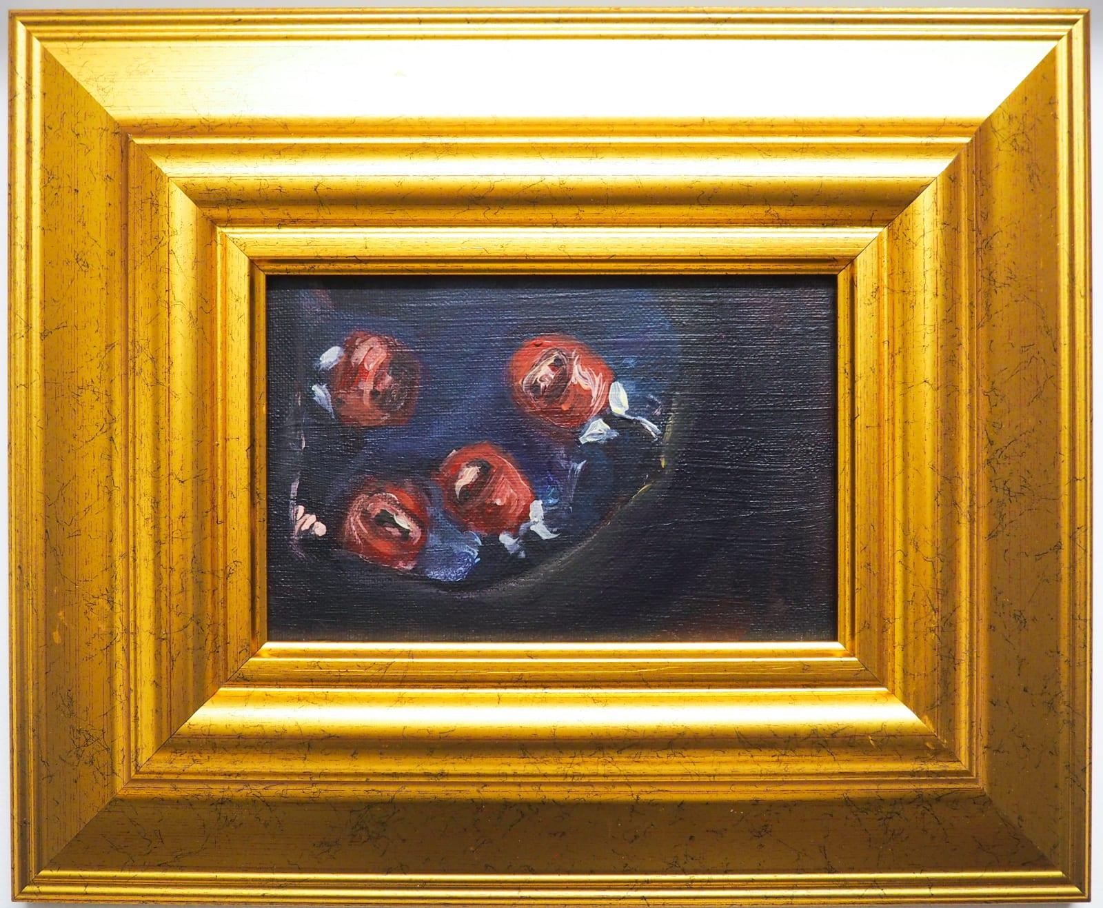 Yassine Balbzioui, message from underground, 2018 Oil on canvas 33.3 x 27.3 cm (framed)