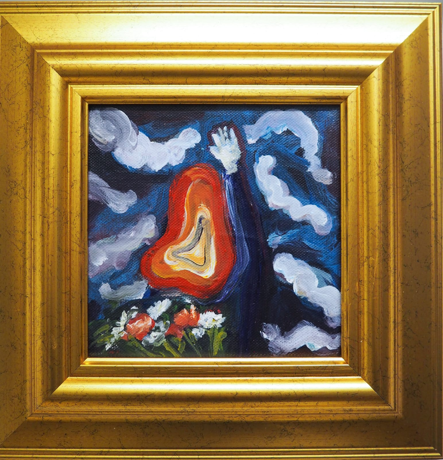 Yassine Balbzioui, the winner is, 2018 Oil on canvas 35.2 x 35.2 cm