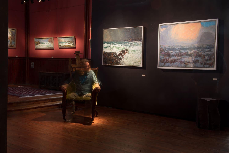 Allan MacDonald's 'pillar of cloud' and Mangersta Maelstrom. August 2019