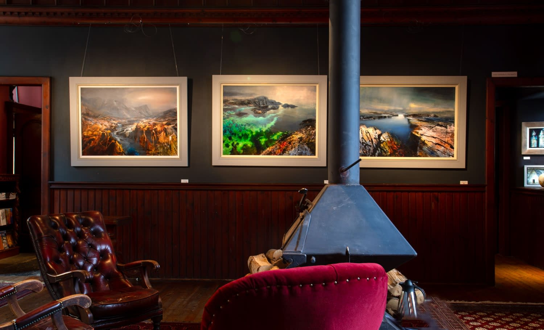 Triptych of Beth Robertson Fiddes, October 2020, Kilmorack Gallery