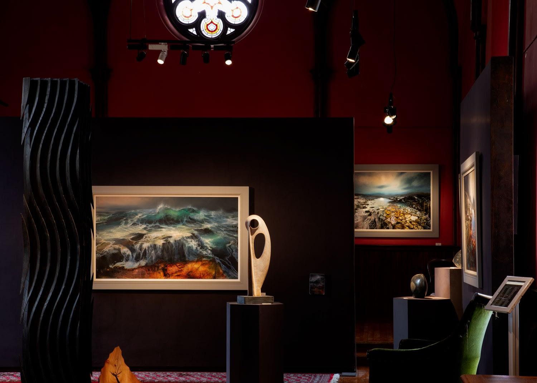 Looking towards pulpit wall. Kilmorack Gallery October 2020
