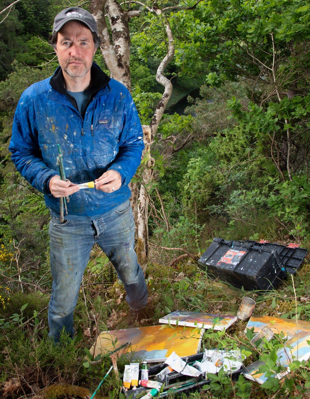 Allan MacDonald and paint tubes
