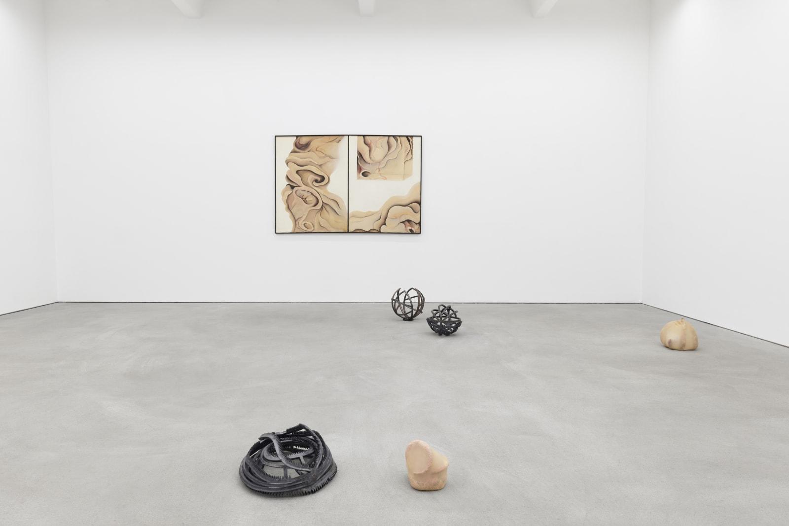 MIRIAM MANIA MUNSKY, HANNA MARIA HAMMARI exhibition view, Liminal States, Kraupa-Tuskany Zeidler, Berlin 2019-2020