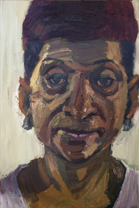 Sedrick Huckaby, Carry, Aunt Carry, Nosy, 2013, 182.9 × 121.9cm / 72 × 48in, Oil on canvas