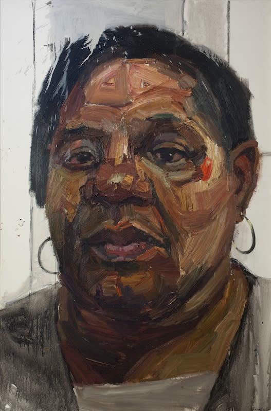 Sedrick Huckaby, Jeanette, Net, Nanna, 2013, 182.9 × 121.9cm / 72 × 48in, Oil on canvas