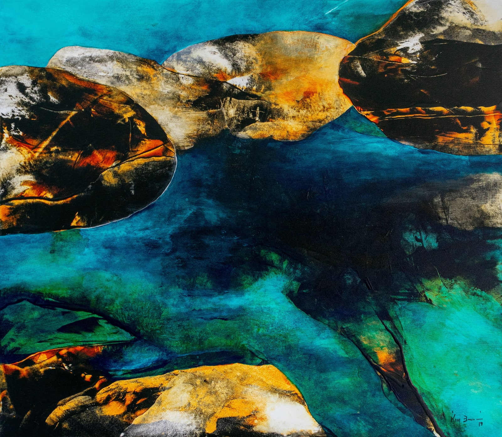 Kim Bennani Untitled, 2020 Mixed media 130 x 150 cm