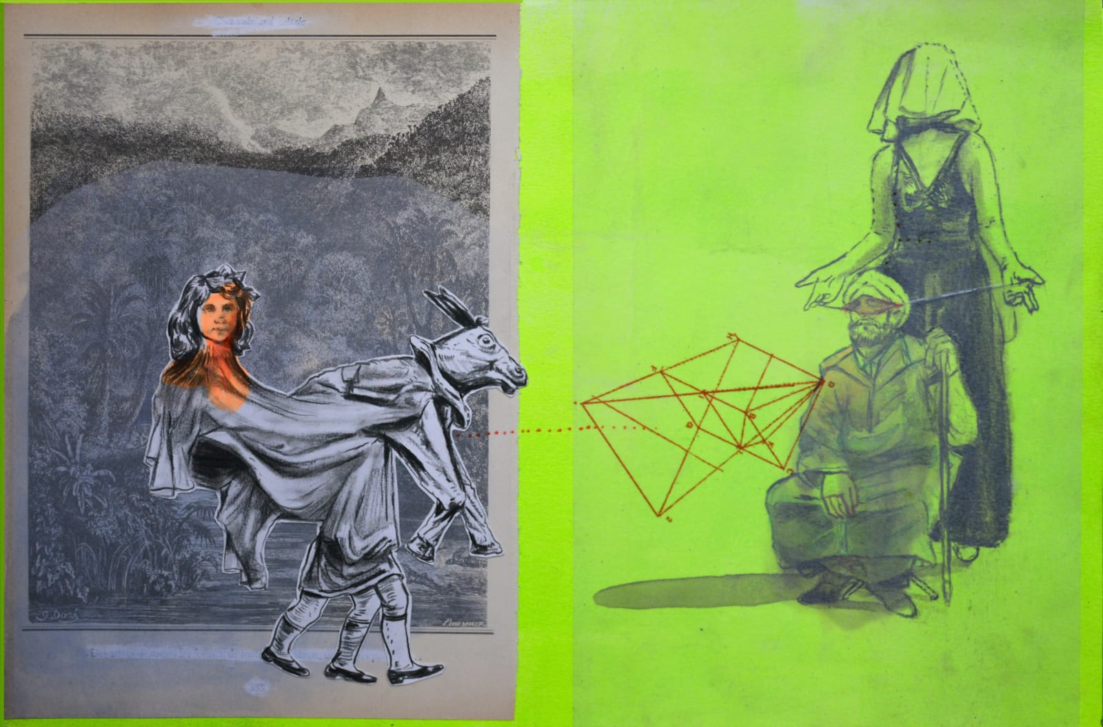 Mohamed Lekleti untitled, 2020 Mixed Media 30 x 46 cm