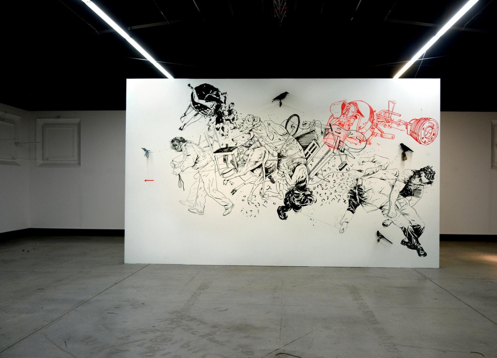 Fuir - oeuvre in situ - 6 x 3,50 m- Fondation Blachère