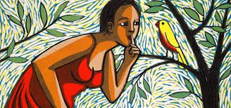 Anita Klein, Bird with a Secret, 2014 Linocut