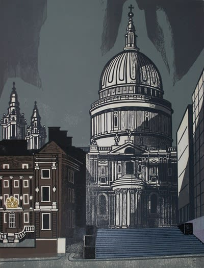 Edward Bawden, St Paul's, 1952 Linocut