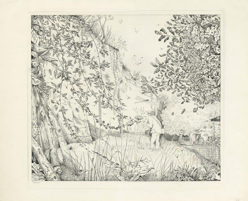 Jean Emile Laboureur, L'entomologiste, 1932 - 1933 Engraving