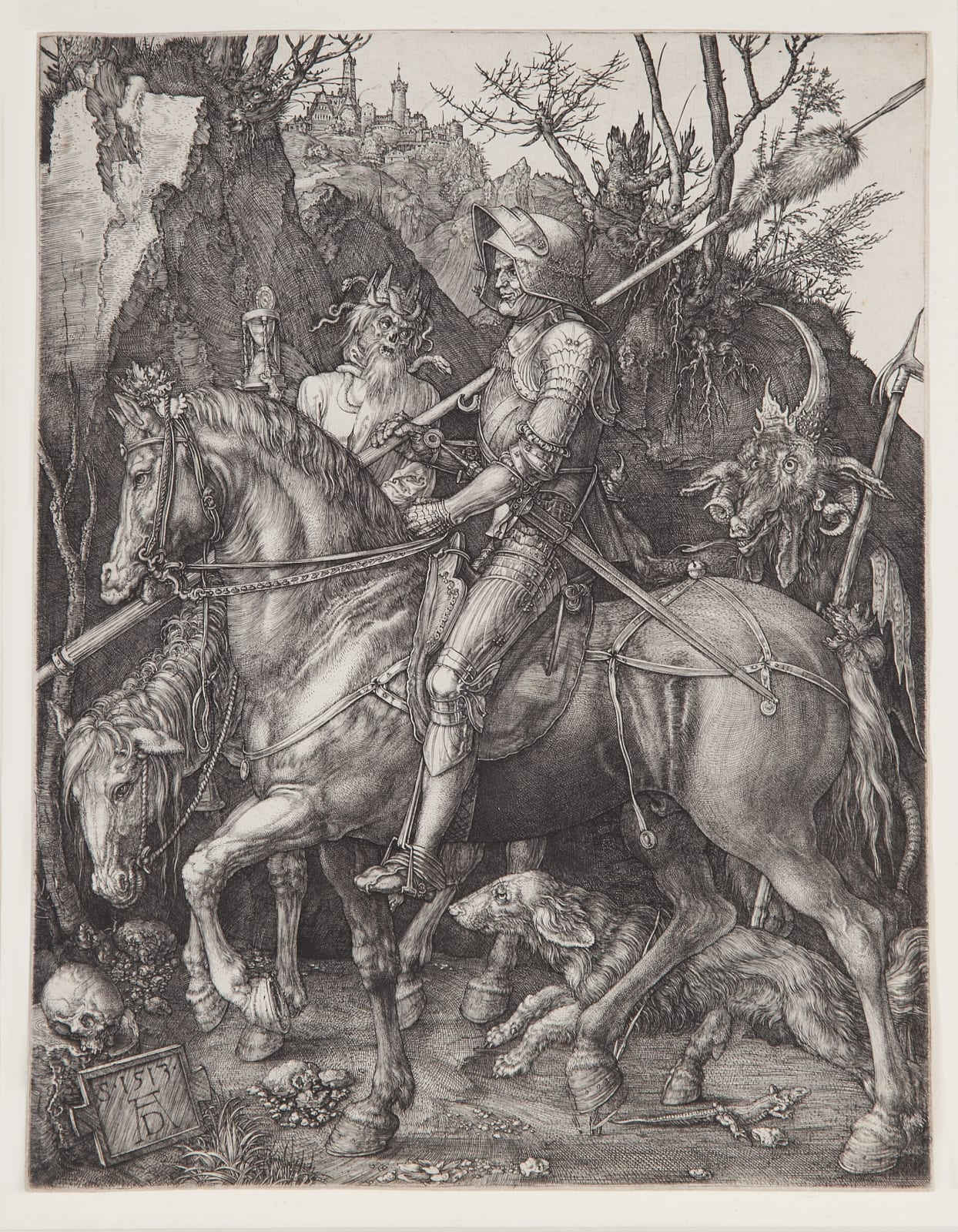 Albrecht Dürer, Knight, Death and the Devil, 1513 Engraving