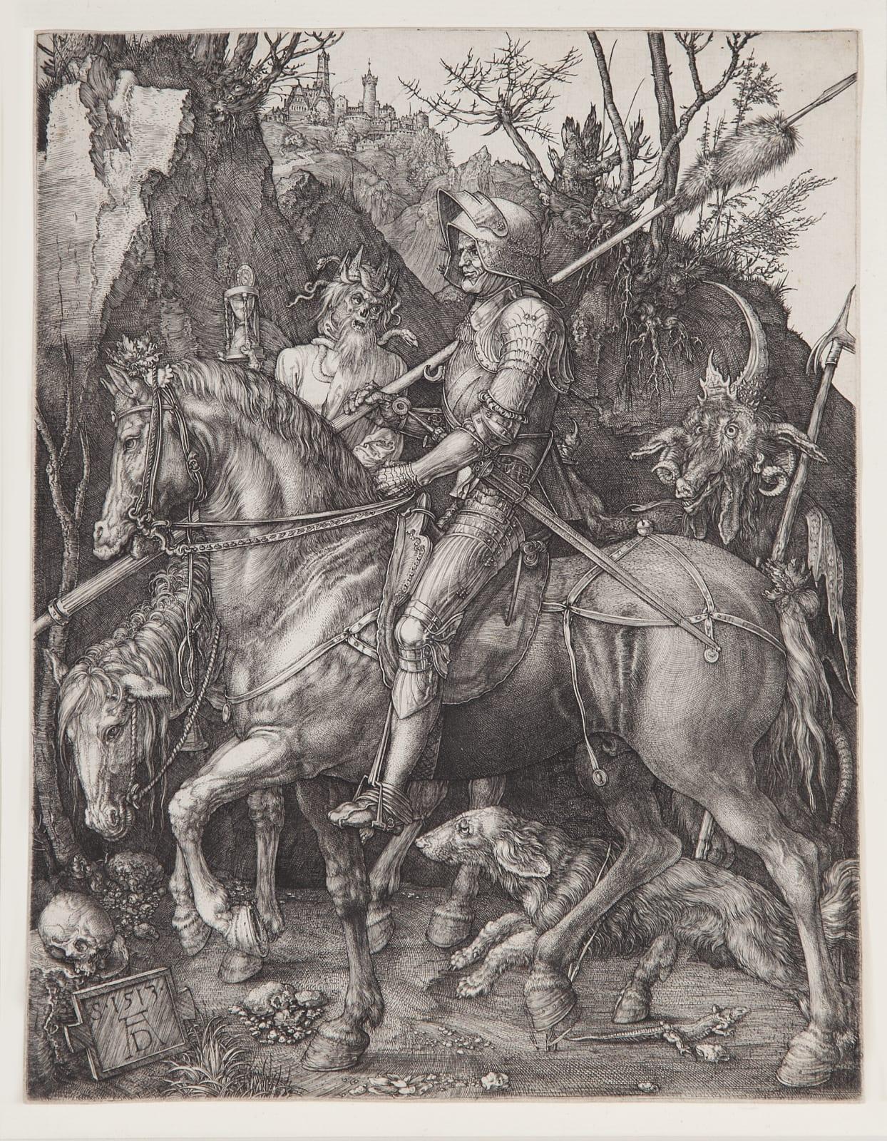 Albrecht Dürer, Knight, Death and the Devil, 1513 Engraving