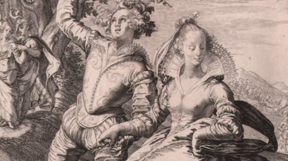 Jan Saenredam, from Five Wise and Five Foolish Virgins, 1606 Engraving