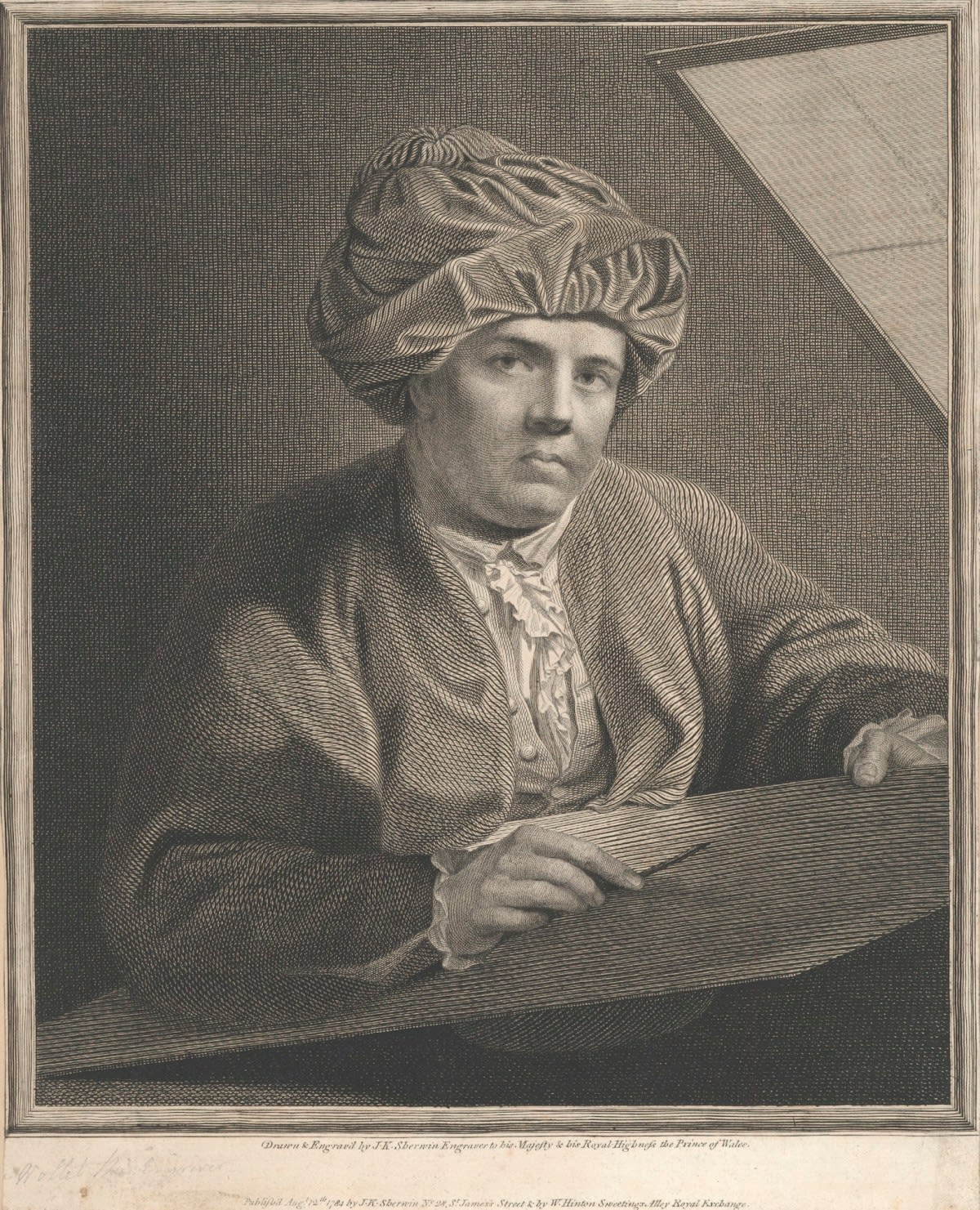 John Keyse Sherwin, Portrait of William Woollett, 1784 Line-engraving